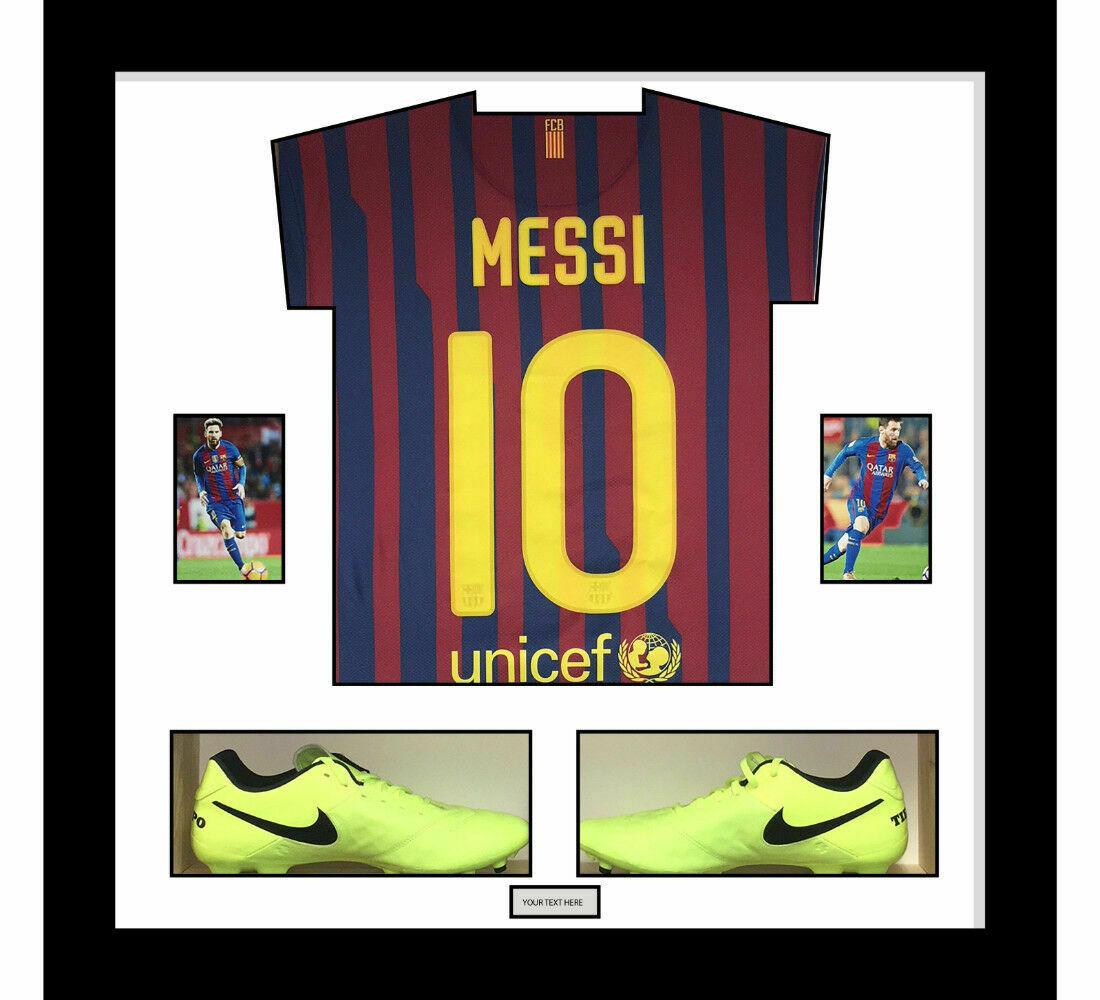 Football Shirt Display Frame with Football Shoes