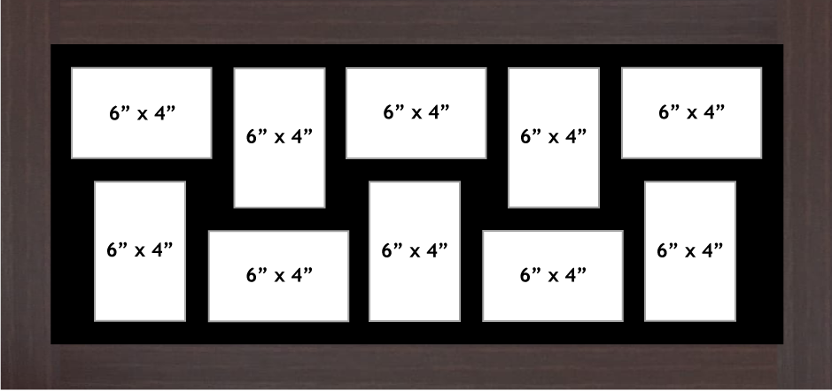 Multi Aperture Photo Frame fits 10 6x4 photos multi-picture frames
