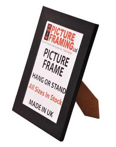 Flat Black Picture Frame 40mm ( All Sizes Available)