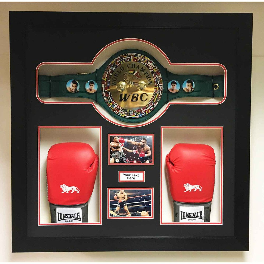 Boxing Championship Belt &Glove 3D BoxDisplay Case Frame for Any Boxing Belt and Glove.