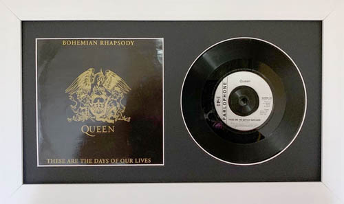 10 Inch Single Vinyl LP Record Frame with Album Cover