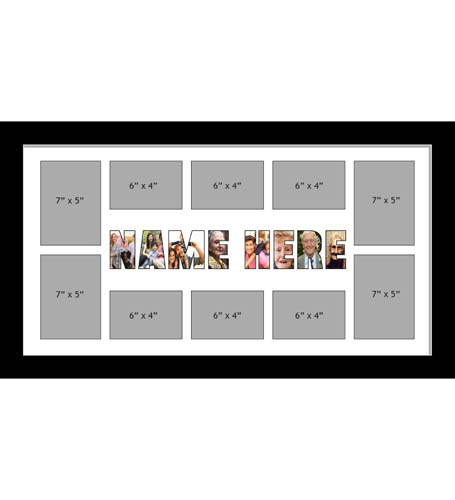 NAME Photo Frames Personalised Name Frames - Large Multi NAME Word Photo 3D Frames