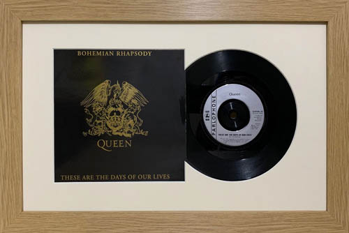 7 Inch Single Vinyl LP Record Frame with Album Cover (Merged)