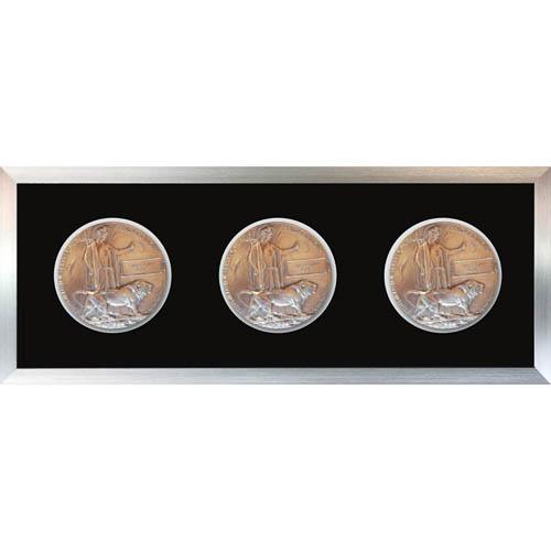 3X Memorial Plaque Medal Frame 3D Box Display Frame For World War Military Memorial Plaque