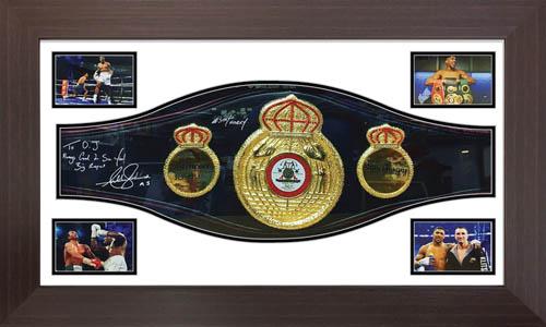 Boxing Belt Display Case Frame For WBA belt Sport Memorabilia Framing