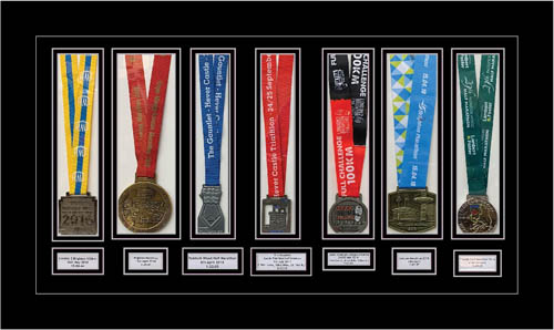 Marathon Medal Display Frame for Triathlon and London Marathon Picture Frame