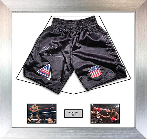 "Boxing Shorts Frame Display for Mike Tyson Shorts Frame with Free 2 x 6"" x 4"" Photos"