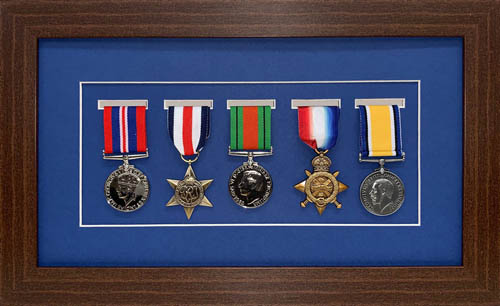 Military / War / Sports Medal 3D Box Picture Frame Fits Five Medal