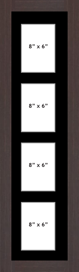 Multi Aperture picture frame fits 4 8x6 photos frames