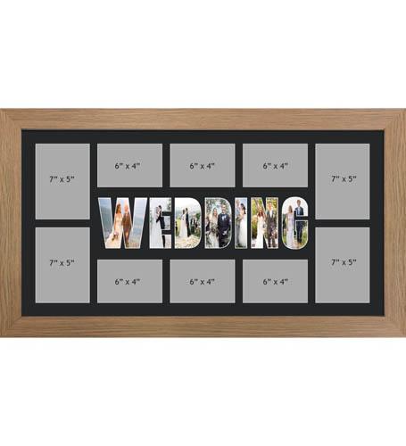 WEDDING Photo Frame Personalised WEDDING Frame | Large Multi WEDDING Word Photo 3D Frame