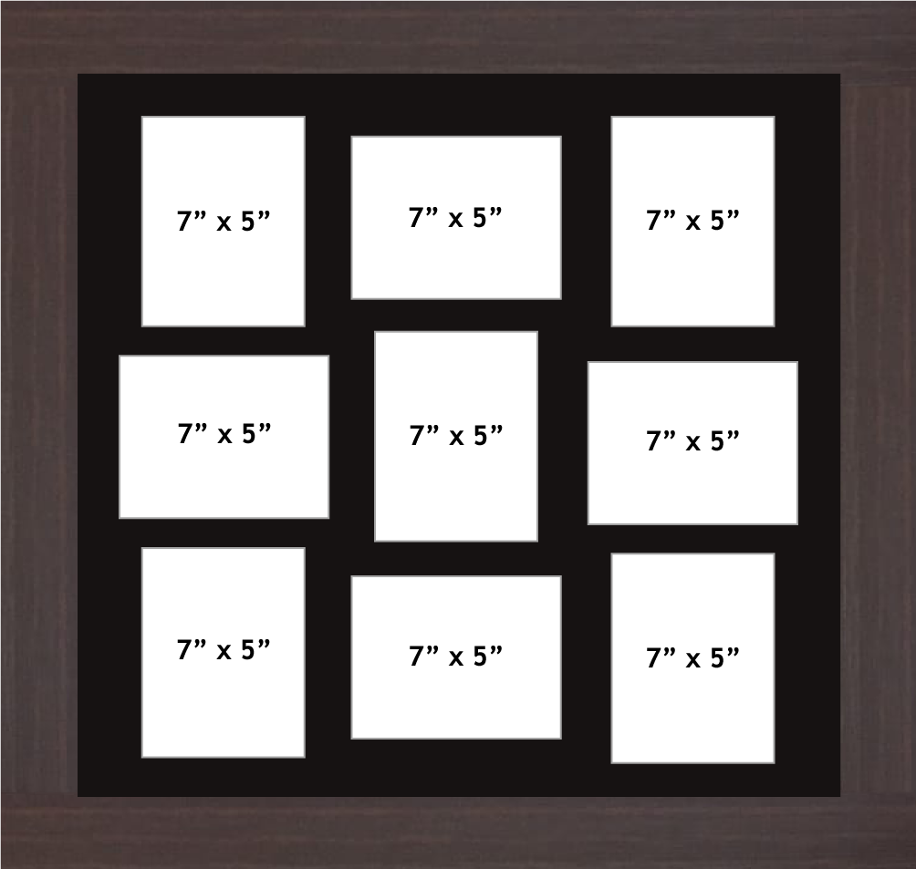 Multi Aperture Photo Frame fits 9 7x5 photos multi-picture frames