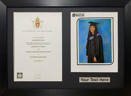 """Graduation Picture Photo Frames 10"""" x 8"""" Photograp A4 Certificate 20mm Moulding"""