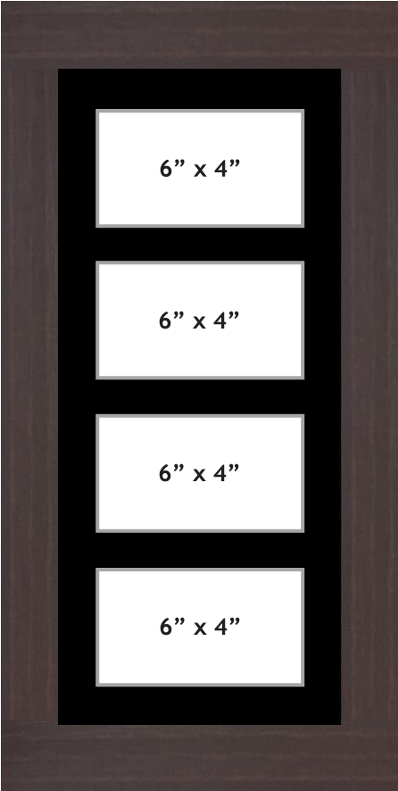 Multi Aperture Photo frame fits 4 6x4 photos multi-picture frames