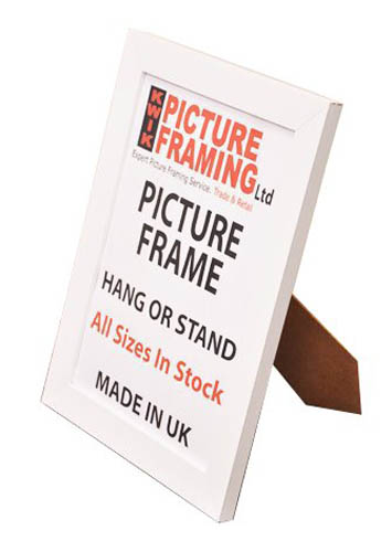 Flat White Picture Frame 30mm ( All Sizes Available)