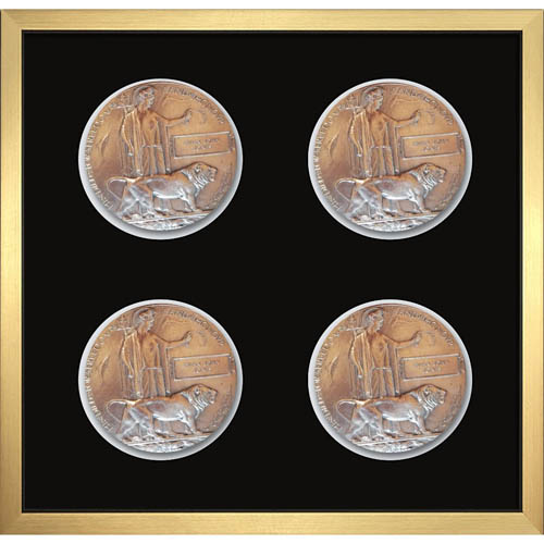 4X Memorial Plaque Medal Frame 3D Box Display Frame For World War Military Memorial Plaque