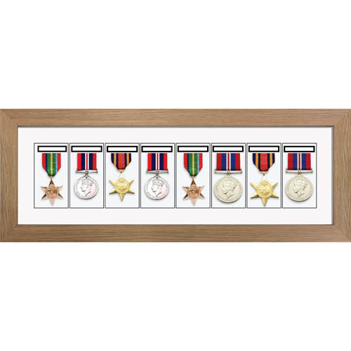 Medal Frame 3D Box Display Frame for 8x World War Military Single or Group Medals