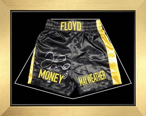 "Boxing Shorts Frame Display for Floyd Shorts Frame with Free 2 x 6"" x 4"" Photos"