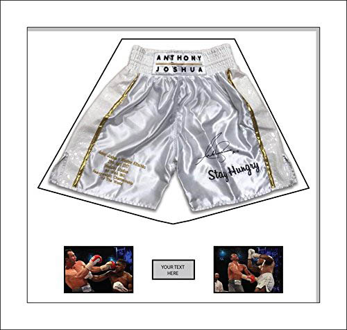 "Boxing Shorts Frame Display for Anthony Joshua Shorts Frame with Free 2 x 6"" x 4"" Photos"
