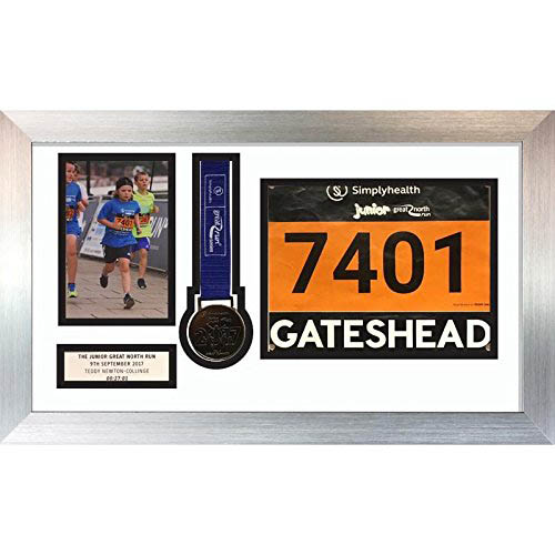Marathon Medal Photo frame | choices of mount and frame colours
