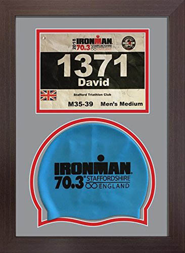 Ironman Staffordshire 70.3 triathlon marathon, display frame