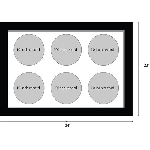 10 Inches Vinyl Record Frame For 6x Records Music Memorabilia Frame