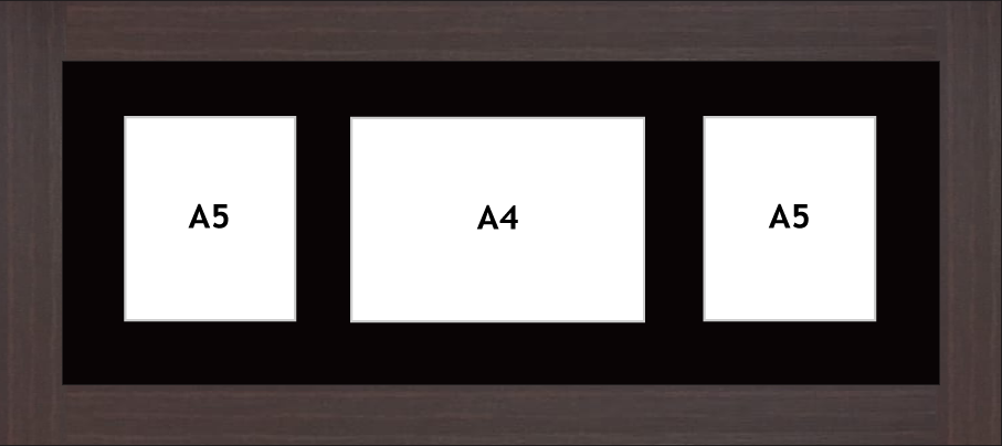 Multi Aperture photo frame fits 3 (2 - A5 & 1- A4) photos multi-picture