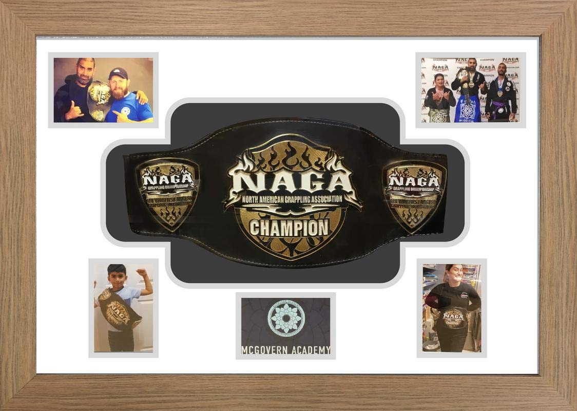 Naga Grappling Championship Belt Display Case. 3D MMA UFC belt display case