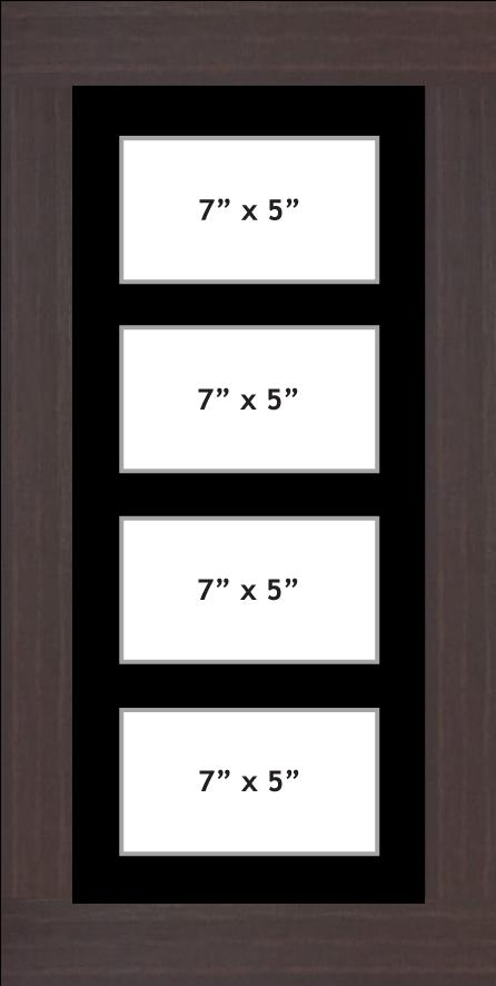 Multi Aperture Photo frame fits 4 7x5 photos multi-picture frames