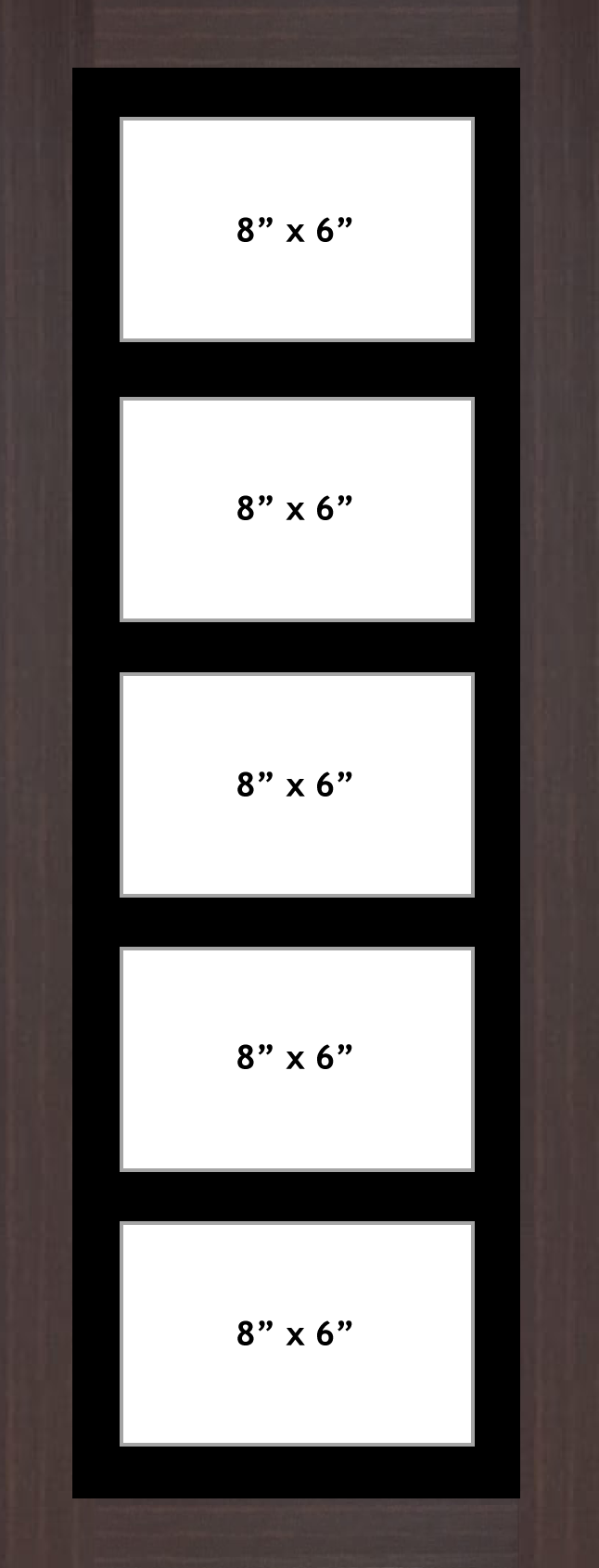 Multi Aperture picture frame fits 5 8x6 photos frames