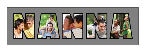 NANNA Photo Frame Personalised Name Frame | NANNA Word Photo 3D Frame For NANNA