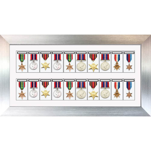 Medal Framing 3D Box Display Frame Case For 20X World War Military Single Or Group Medals