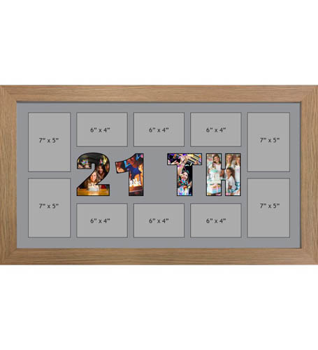 21ST Photo Frame Personalised Name Frames | Large Multi 21ST Word Photo 3D Frame