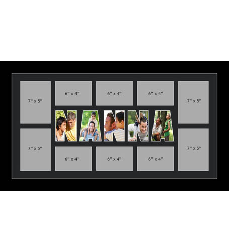 NANNA Photo Frame Personalised Name Frames | Large Multi NANNA Word Photo 3D Frame