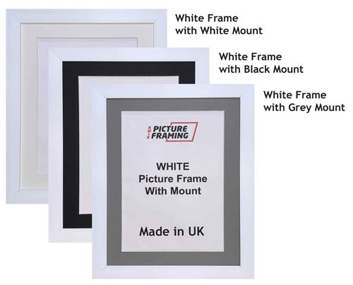 White Picture Frame with Mount
