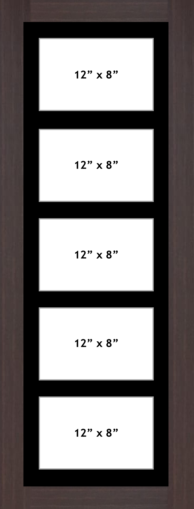 Multi Aperture picture frame fits 5 12x8 photos frames