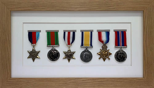Military / War / Sports Medal 3D Box Picture Frame Fits Six Medal