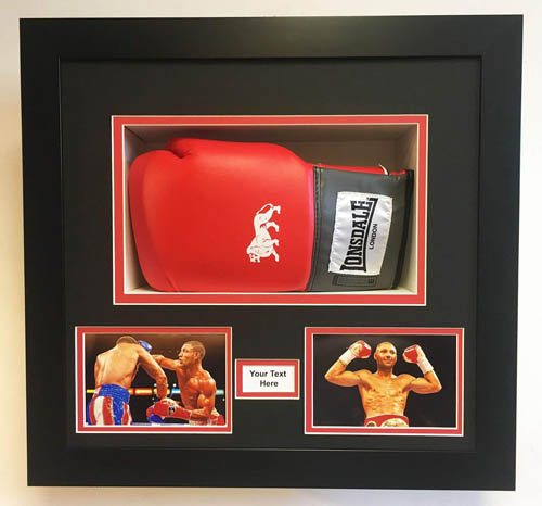 Boxing Glove Frame Ideal For Signed Boxing Gloves with choice of frame colours