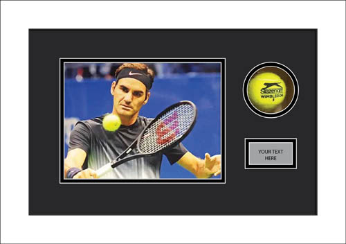 Signed tennis ball display case
