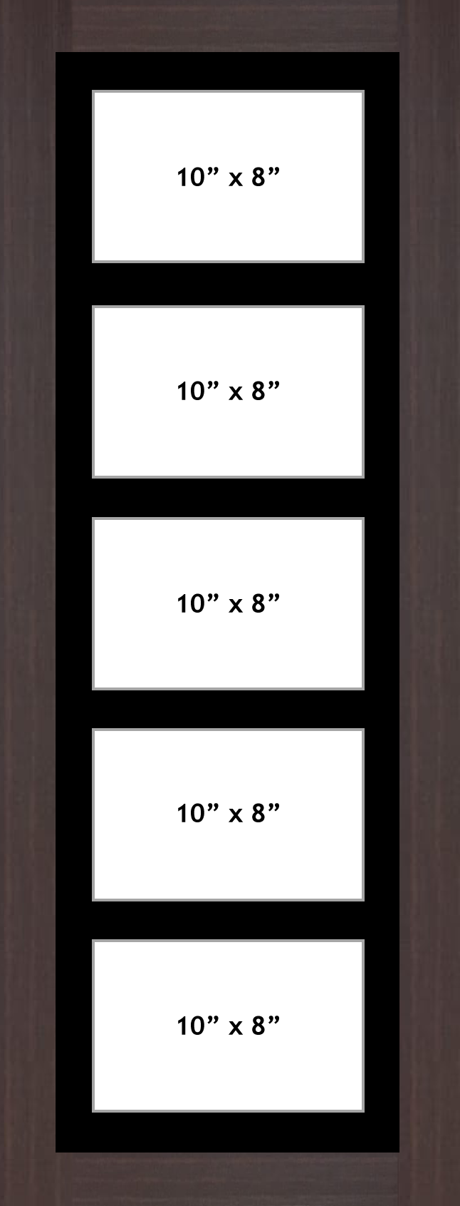 Multi Aperture picture frame fits 5 10x8 photos frames