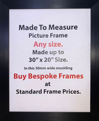 Bespoke Custom Made Commercial Picture Framing Services | 30mm Wide Moulding