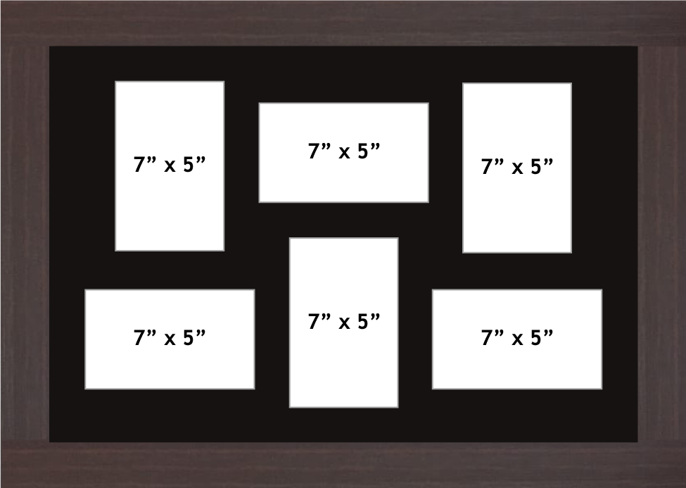 Multi Aperture picture frame fits 6 7x5 photos frames