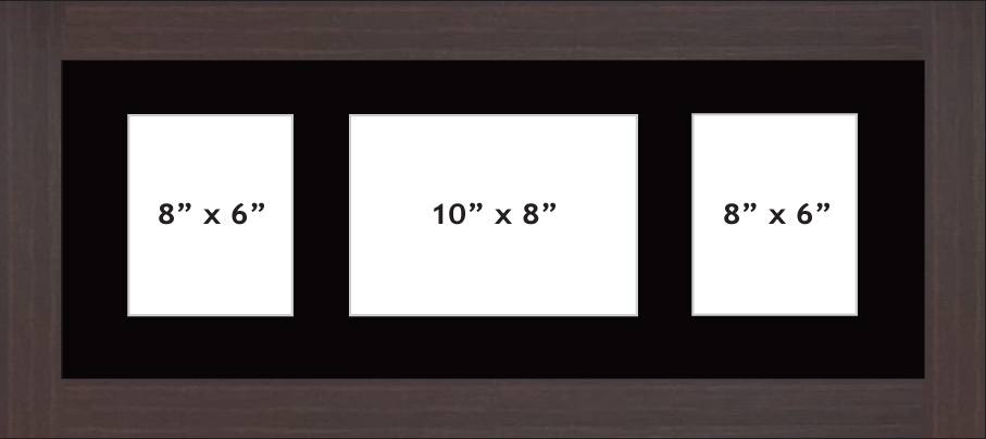 Multi Aperture photo frame fits 3 ( 2 - 8x6 & 1- 10x8) photos multi-picture