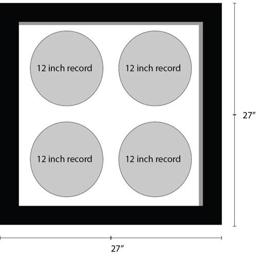 12 Inches Vinyl Record Frame For 4x Records Music Memorabilia Frame