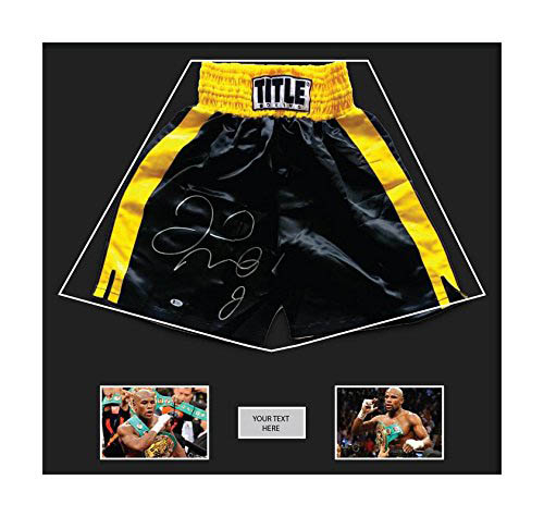 "Boxing Shorts Frame Display for Floyd Mayweather Shorts Frame with Free 2 x 6"" x 4"" Photos"