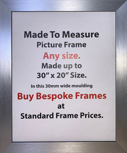 Made to Measure Bespoke Custom made Artwork Photo Frame | 30mm Wide Moulding