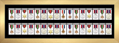 Medal Frame 3D Box Display Frame For 32x World War Military Single Or Group Medals