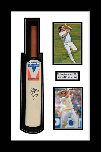 Cricket Mini Bat Display Case Frame with photo