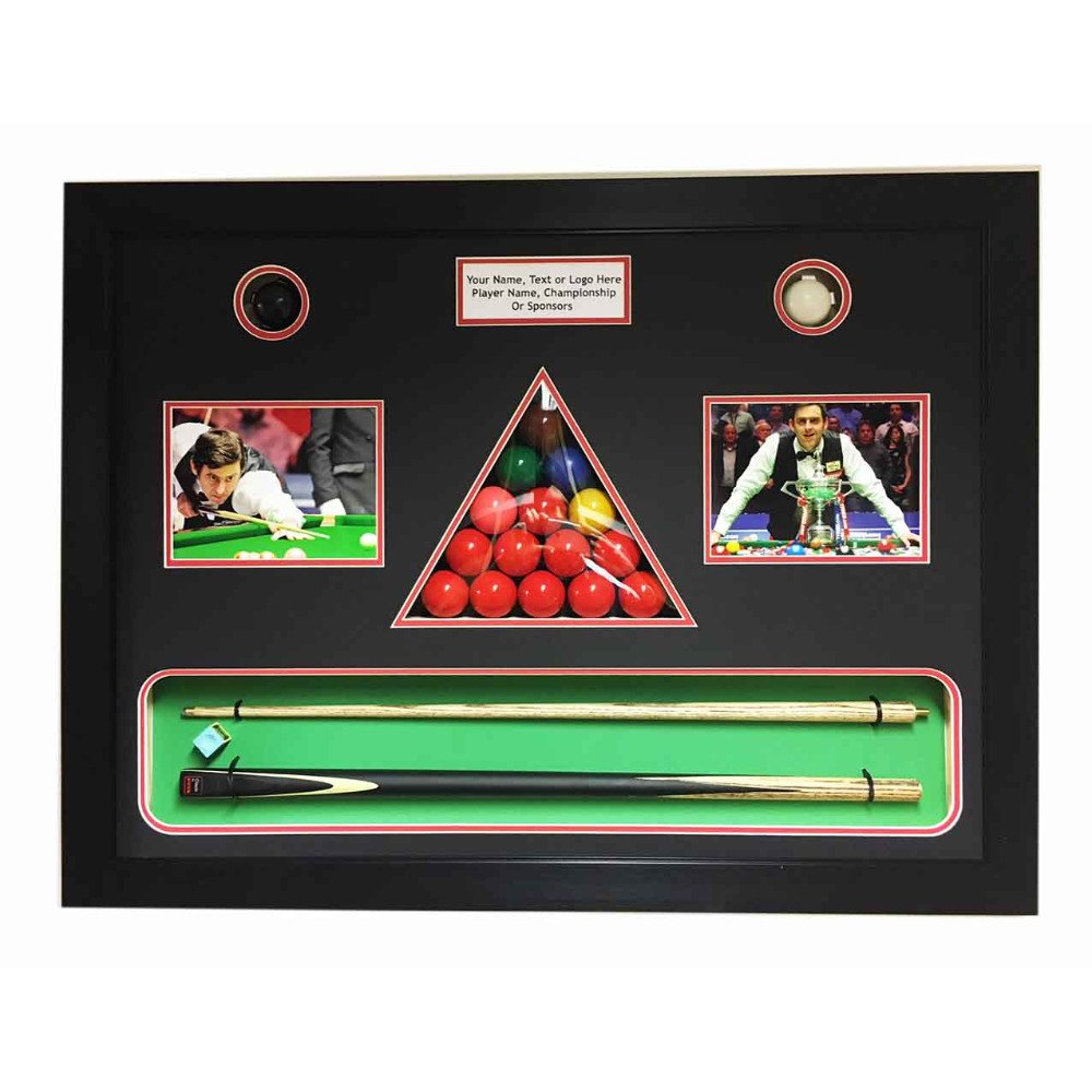 Snooker Memorabilia 3D Display Box Frame, For All In One Snooker Cue, Balls, Chalk, Signed Photo And Title