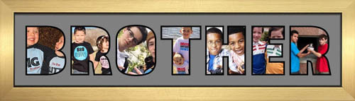 BROTHER Photo Frame Personalised Name Frame | BROTHER Word Photo 3D Frame For BROTHER