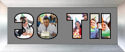 3OTH Photo Frame Personalised Name Frame | 30TH Word Photo 3D Frame For 30th Birthday